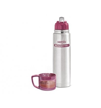 Milton Vacuum Flask Thermos With Cover Thermosteel Glassy 1000