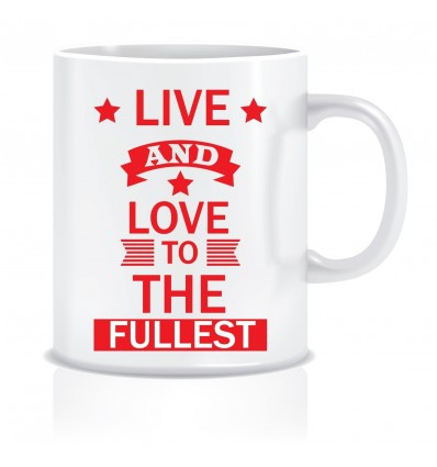 Everyday Desire Live & Love Ceramic Coffee Mug - Valentines / Anniversary gifts for girlfriend, boyfriend, wife, husband - ED400