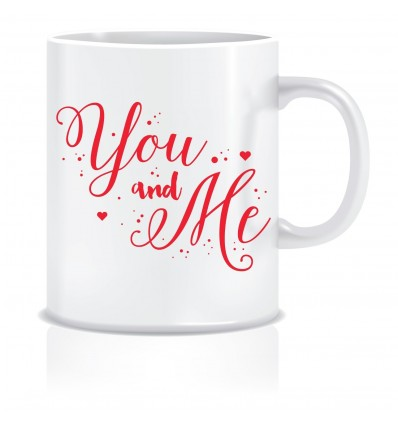 Everyday Desire You & Me Ceramic Coffee Mug - Valentines / Anniversary gifts for girlfriend, boyfriend, wife, husband - ED418