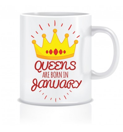 Everyday Desire Queens are Born in January Ceramic Coffee Mug - Birthday gifts for Girls, Women, Mother - ED463