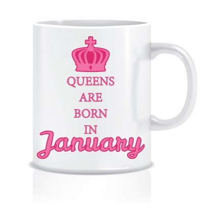 Everyday Desire Queens are Born in January Ceramic Coffee Mug - Birthday gifts for Girls, Women, Mother - ED466