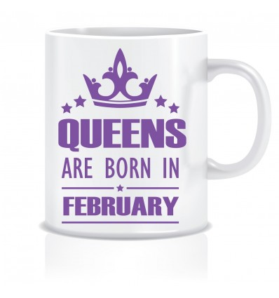 Everyday Desire Queens are Born in February Ceramic Coffee Mug - Birthday gifts for Girls, Women, Mother - ED469