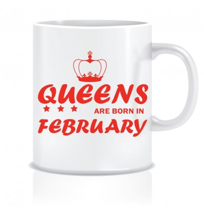 Everyday Desire Queens are Born in February Ceramic Coffee Mug - Birthday gifts for Girls, Women, Mother - ED471