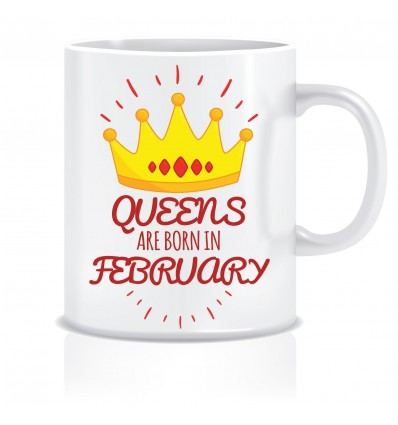 Everyday Desire Queens are Born in February Ceramic Coffee Mug - Birthday gifts for Girls, Women, Mother - ED472