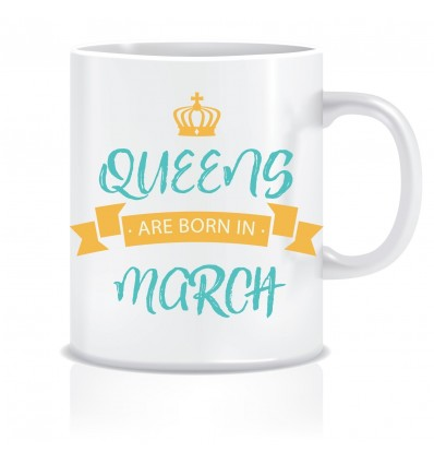 Everyday Desire Queens are Born in March Ceramic Coffee Mug - Birthday gifts for Girls, Women, Mother - ED483