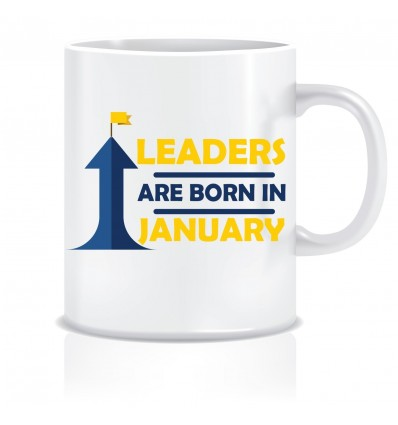 Everyday Desire Leaders are Born in January Ceramic Coffee Mug - Birthday gifts for Boys, Men, Father - ED489