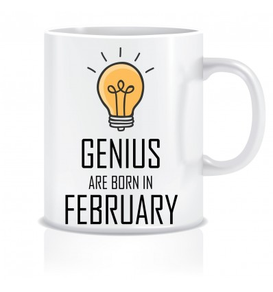 Everyday Desire Genius are Born in January Ceramic Coffee Mug - Birthday gifts for Boys, Men, Father - ED523
