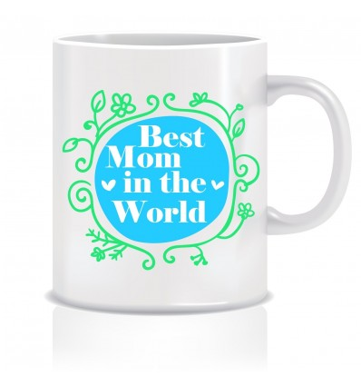 Everyday Desire Best Mom In The World Coffee Mug - Birthday gifts for Mom, Mother, Mommy - Mother's day gifts - ED624