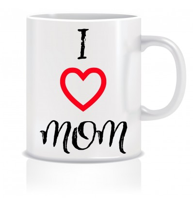 Everyday Desire I Love Mom Coffee Mug -Birthday gifts for Mother, Mom, Mommy - Mother's day gifts - ED628