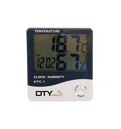 NEEWER® LCD Digital Temperature Humidity Meter Hygrometer Clock