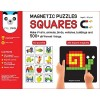 Magnetic Puzzles : Squares (Includes 200 colorful magnets + 90 puzzles + magnetic board + display stand)