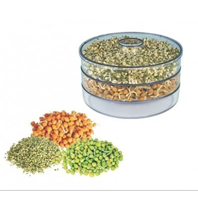 Gambit Plastic Sprout Maker - Medium (1.5 liter) (Color May Vary) 3 containers
