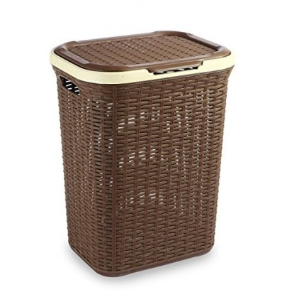 All Time Plastics Rattan Plastic Storage Chest, 50 Litres, Brown
