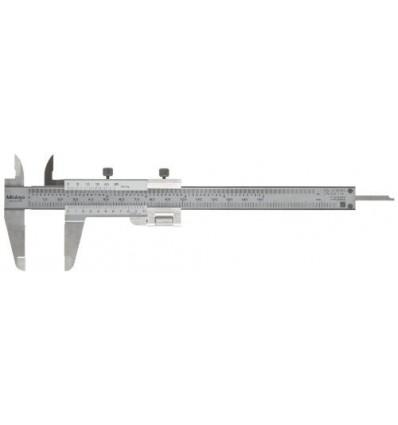"Mitutoyo 532-119 Vernier Caliper, Stainless Steel, Inch/Metric, 0-5"" Range, +/-0.0011"" Accuracy, 0.001"" Resolution"